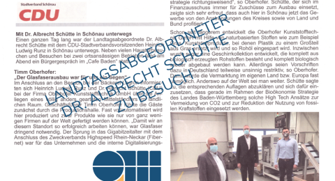 Landtagsabgeordneter Dr. Albrecht Schuette zu Besuch Oberhofer Kunststofftechnik GmbH